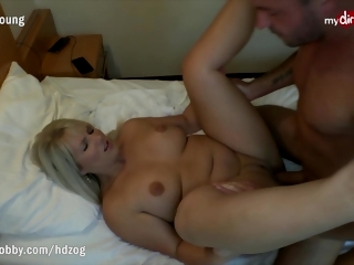 MyDirtyHobby - Caught her co-worker masturbating and lend him a hand