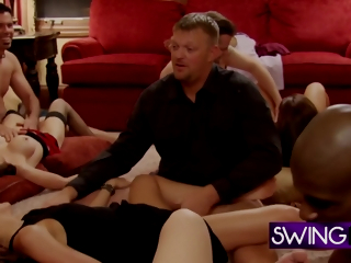 Swingers Relax Massaging One Another