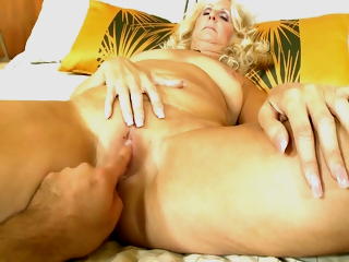 Nichole - 53 Year Old Hot Blonde Cougar's First Porn