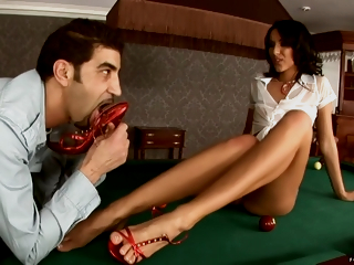 Girl With Sexually Attractive Frontier fingers Shagged On Pool Table