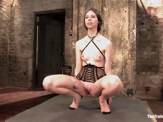 Lingerie Clad Sub Slut Learns About Clothespin Torture. 1080p Hd