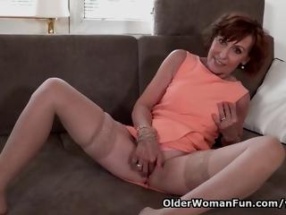 64-year-old Euro Granny Danina Is A Impassioned Masturbator