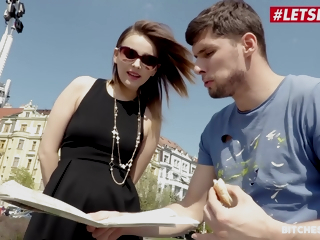 Kristof Cale And Jessica Spielberg In Kinky Russian Teen Rides A Big Cock During Their way Trip Involving Prague