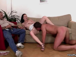 Fucked A Hot Brunette In Her Tight Hole